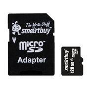 Карта памяти Micro SDXC 128Gb SmartBuy Class 10 + адаптер SD (SB128GBSDCL10-01)