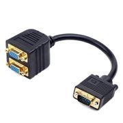 Разветвитель VGA 15M вход -> 2xVGA 15F выхода, пассивный, 0.2 м, Gembird (CC-VGAX2-20CM)