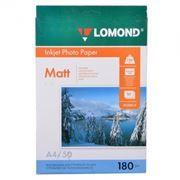 Бумага A4 LOMOND матовая 180 г/м, 50 листов (0102014)