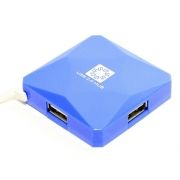 HUB 4-port 5bites HB24-202BL Blue USB 2.0