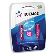 Аккумулятор AAA КОСМОС HR03-2BL 900мА/ч Ni-Mh, 2шт, блистер
