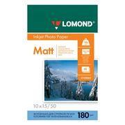Бумага A6 LOMOND, матовая, 180 г/м, 10x15 см, 50 листов (0102063)