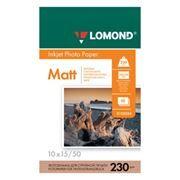 Бумага A6 LOMOND, матовая, 230 г/м, 10x15 см, 50 листов (0102034)