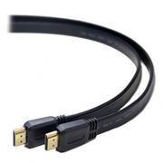 Кабель HDMI 19M-19M V1.4, 3.0 м, плоский, черный, позол. разъемы, Gembird/Cablexpert (CC-HDMI4F-10)