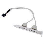 Планка в слот на 2 порта USB 2.0, 0.25 м Gembird (CCUSBRECEPTACLE)