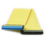 Шлейф IDE Ultra ATA-133 на 2 устройства, 80 жил, 48 см, желтый, Gembird (CC-IDE-100)