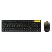 Комплект SmartBuy SBC-23350AG-KY, беспроводные клавиатура и мышь, черный/желтый