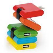 HUB 4-port KONOOS UK-06 USB 2.0 Конструктор