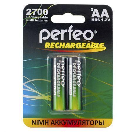 Аккумулятор AA Perfeo AA2700/2BL 2700мА/ч Ni-Mh, 2шт, блистер