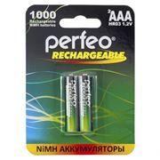 Аккумулятор AAA Perfeo AAA1000/2BL 1000мА/ч Ni-Mh, 2шт, блистер