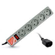 Сетевой фильтр для ИБП, Power Cube, 2.2 кВт 10A, серый, 1.9 м, 5 розеток (SPG-B-6ext)
