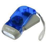 Фонарь Perfeo LT-008 электродинамический, синий, пластик, светодиодный, 40LM, 1W