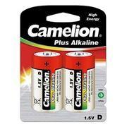 Батарейка D CAMELION Plus Alkaline LR20-BP2, щелочная, 2шт, блистер