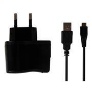 Зарядное устройство SmartBuy ONE, 1A miniUSB, кабель 1 м, черное  (SBP-4050)