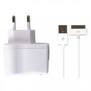 Зарядное устройство SmartBuy ONE, 1A, кабель Apple 30-pin, 1м, белое (SBP-3250)