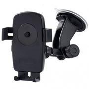 Держатель автомобильный на присоске для устройств до 5, One touch, черный, Perfeo PH-502