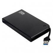 Внешний контейнер для 2.5 HDD S-ATA AgeStar 3UB2A14, алюминиевый, чёрный, USB 3.0