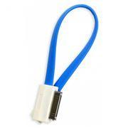 Кабель USB 2.0 Am=>Apple 30 pin, магнит, 0.2 м, голубой, SmartBuy (iK-402m blue)