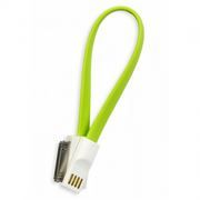 Кабель USB 2.0 Am=>Apple 30 pin, магнит, 0.2 м, зеленый, SmartBuy (iK-402m green)