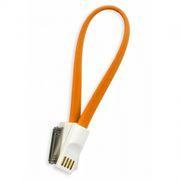 Кабель USB 2.0 Am=>Apple 30 pin, магнит, 0.2 м, оранжевый, SmartBuy (iK-402m orange)