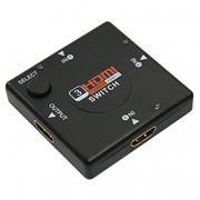 Переключатель 3 HDMI входа =>1 HDMI выход, переключение кнопкой, Rexant (17-6912)