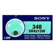 Батарейка Sony SR 421 SWN-PB 348 1.55V, 1 шт, блистер