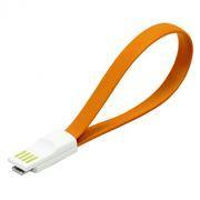 Кабель USB 2.0 Am=>micro B - 0.2 м, магнитный, оранжевый, SmartBuy (iK-02m orange)