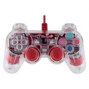 Геймпад OXION OGP02RD, подсветка, красный, ПК/PS3