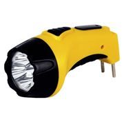 Фонарь SmartBuy, аккумуляторный, зарядка 220В, желтый, 4 LED (SBF-84-Y)