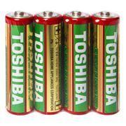 Батарейка AA Toshiba R6/4SH солевая, 4 шт, в термопленке