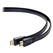 Кабель HDMI 19M-19M V1.4, 1.8 м, плоский, черный, позол. разъемы, Gembird/Cablexpert (CC-HDMI4F-6)