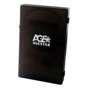 Внешний контейнер для 2.5 HDD S-ATA AgeStar SUBCP1, пластик, черный, USB 2.0