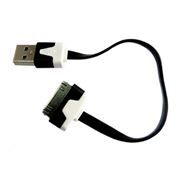 Кабель USB 2.0 Am=>Apple 30 pin, плоский, 0.15 м, Dialog (HC-A6201)