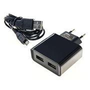 Зарядное устройство SmartBuy NOVA, 3A, 2xUSB + micro USB, черное (SBP-6050)