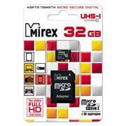Карта памяти Micro SDHC 32Gb Mirex Class 10 UHS-I U1 + адаптер SD (13613-ADSUHS32)