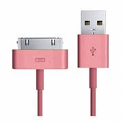 Кабель USB 2.0 Am=>Apple 30 pin, 1.2 м, розовый, SmartBuy (iK-412c pink)