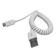 Кабель USB 2.0 Am=>micro B - 1.0 м, витой, белый, Smartbuy (iK-12sp white)