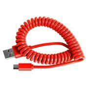 Кабель USB 2.0 Am=>micro B - 1.0 м, витой, красный, Smartbuy (iK-12sp red)