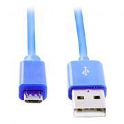 Кабель USB 2.0 Am=>micro B - 1.2 м, голубой, Smartbuy (iK-12c blue)