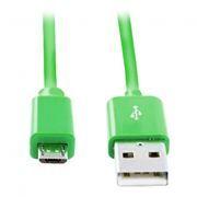 Кабель USB 2.0 Am=>micro B - 1.2 м, зеленый, Smartbuy (iK-12c green)