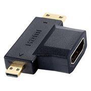 Адаптер microHDMI/M - miniHDMI/M - HDMI/F, Perfeo (A7006)