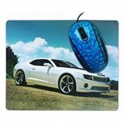 Мышь CBR Sport Car USB с ковриком