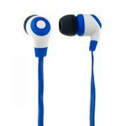 Наушники-вкладыши Perfeo Rubber, синие с белым (PF-RUB-BLU/WHT)