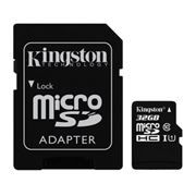 Карта памяти Micro SDHC 32Gb Kingston Class 10 UHS-I 45MB/s + адаптер (SDC10G2/32GB)