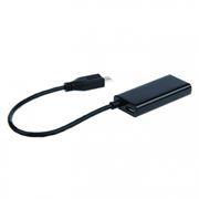 Адаптер MHL 11 pin USB micro Bm - HDMI (f) + micro Bf, 0.2 м, Cablexpert (A-MHL-003)