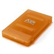 Внешний контейнер для 2.5 HDD S-ATA AgeStar SUBCP1, пластик, оранжевый, USB 2.0