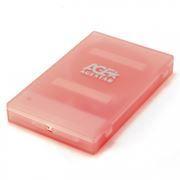 Внешний контейнер для 2.5 HDD S-ATA AgeStar SUBCP1, пластик, розовый, USB 2.0