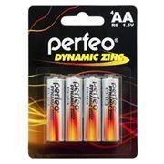 Батарейка AA Perfeo R6/4BL Dynamic Zinc, 4 шт, блистер