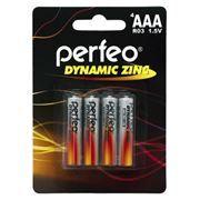 Батарейка AAA Perfeo R03/4BL Dynamic Zinc, 4 шт, блистер