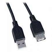 Кабель удлинитель USB 2.0 Am=>Af - 1.0 м, черный, Perfeo (U4502)